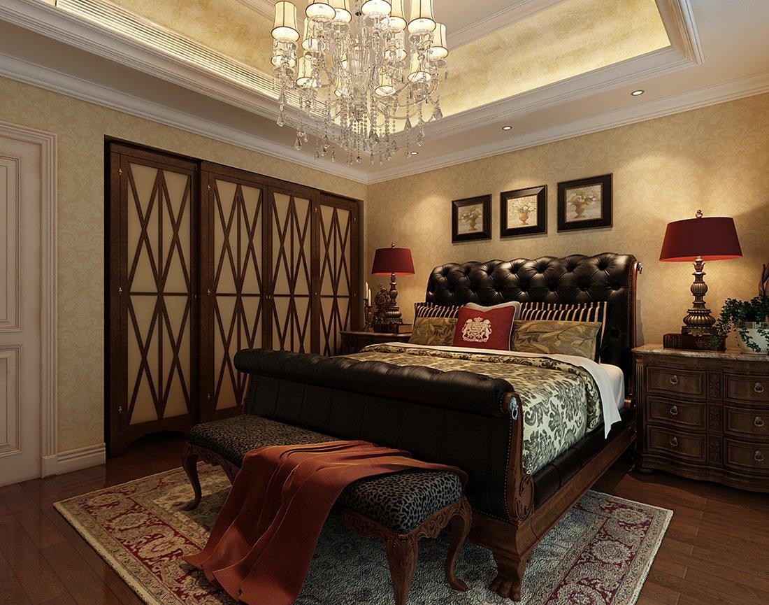美式 别墅 白领 尚层装饰 主卧 卧室图片来自北京别墅装修案例在温馨浪漫的美式家庭的分享