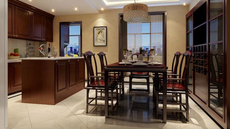 三居室 简约中式 高度国际 装饰设计 高度希文 餐厅图片来自高度国际装饰宋增会在8万打造三居室的分享