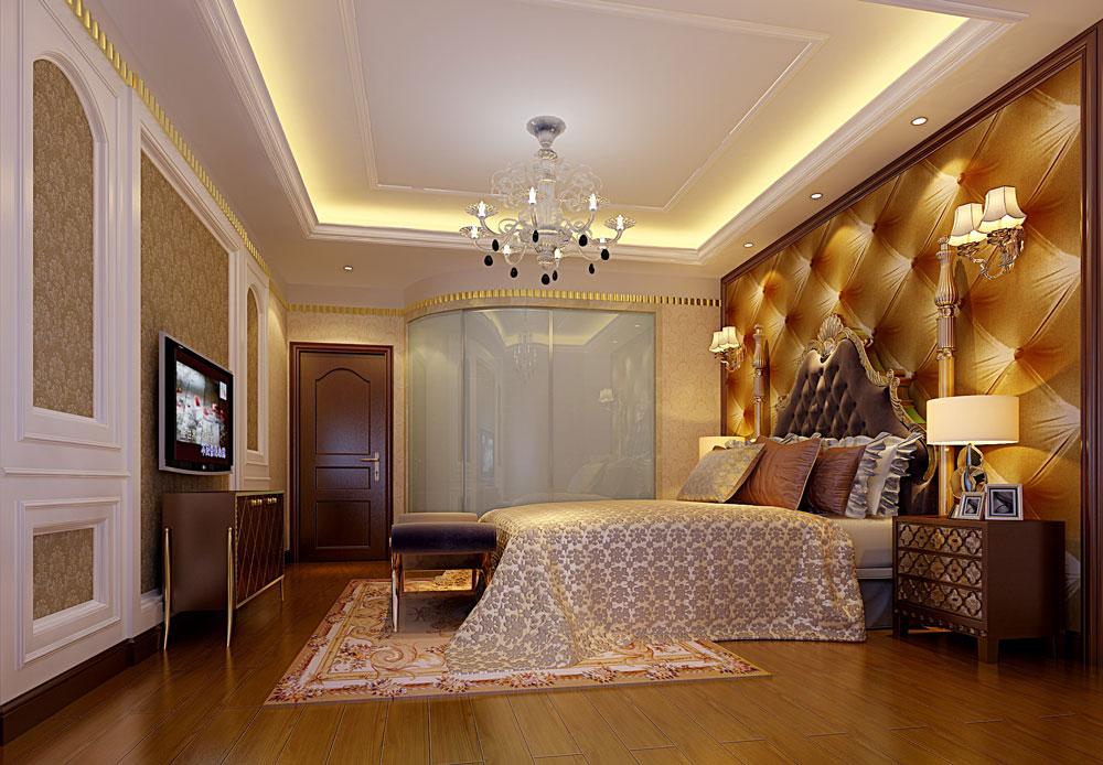 欧式 田园 简约 别墅 白领 卧室图片来自好易家装饰集团在水木丹华的分享