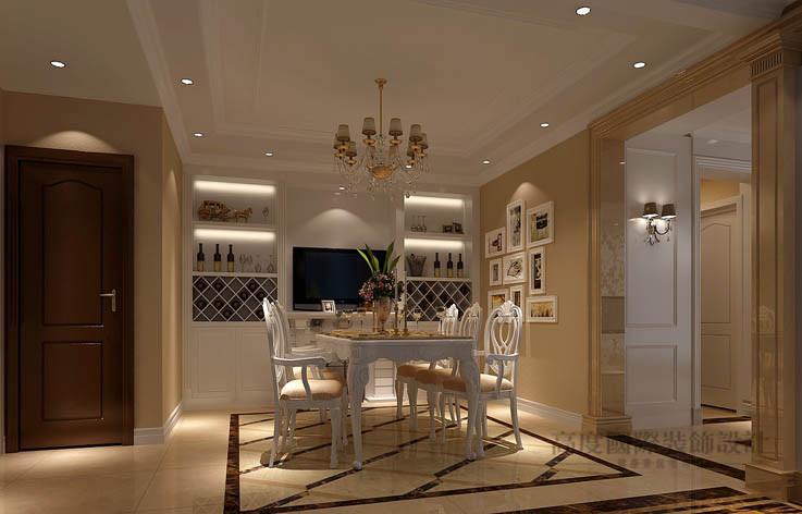 欧式 花园 洋房 餐厅图片来自高度国际设计装饰在旭辉御府236㎡花园洋房欧式风格的分享