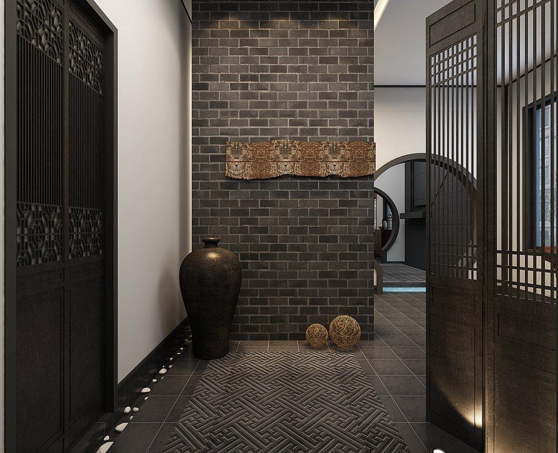 中式 别墅 白领 尚层装饰 走廊 其他图片来自北京别墅装修案例在中式气质,禅意东方的分享