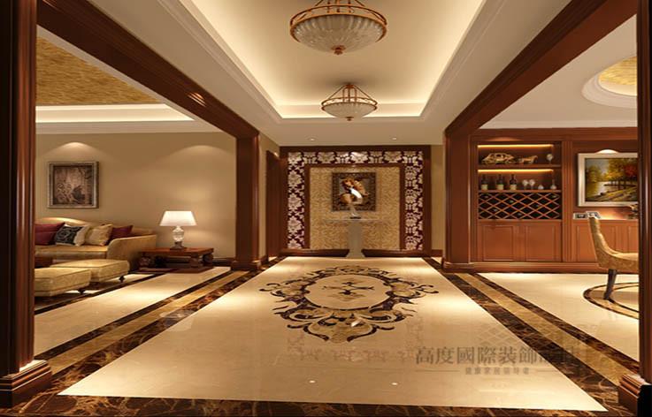 三居 欧式 玄关图片来自高度国际设计装饰在旭辉御府166㎡三居欧式风格的分享