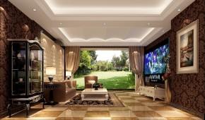 高度国际 原河名墅 时尚 美式 白领 80后 别墅 小资 白富美 客厅图片来自北京高度国际装饰设计在原河名墅浪漫美式的分享
