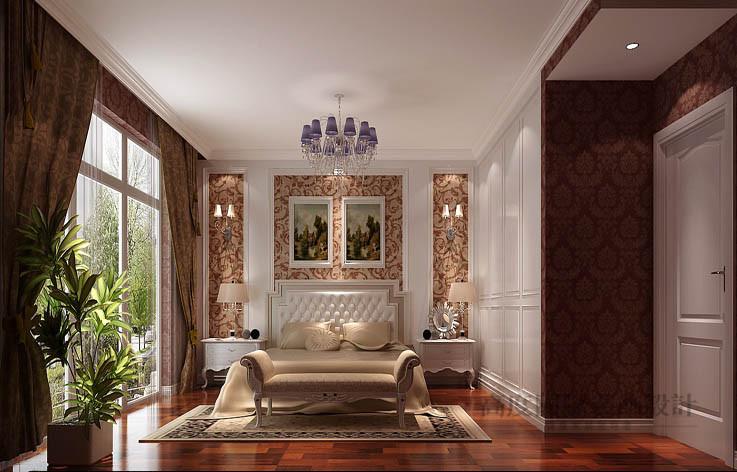 简约 欧式 公寓 卧室图片来自高度国际设计装饰在鲁能七号院210㎡简欧风格的分享