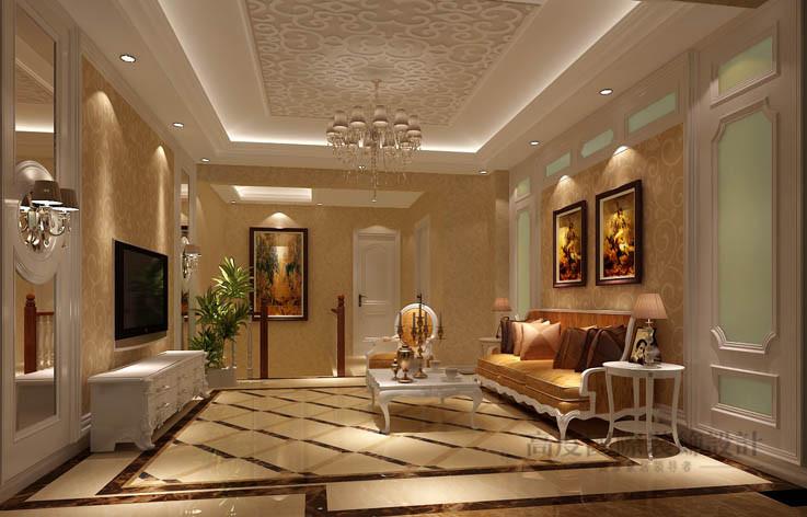 简约 欧式 公寓 客厅图片来自高度国际设计装饰在鲁能七号院210㎡简欧风格的分享