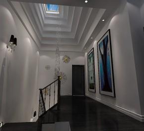高度国际 远洋傲北 别墅 白领 80后 白富美 时尚 现代 简约 楼梯图片来自北京高度国际装饰设计在远洋傲北现代人的精彩的分享