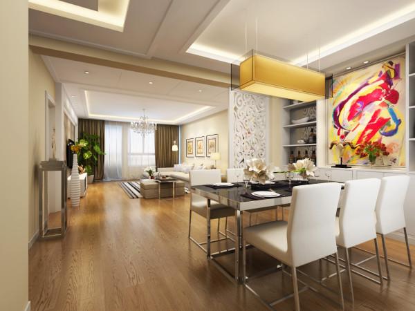 宝业东城广场-132平米-简约风格-餐厅装修效果图