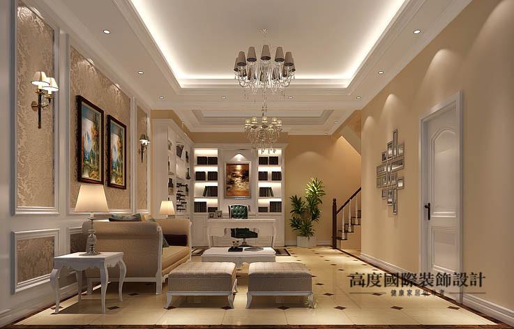 欧式 洋房 客厅图片来自高度国际设计装饰在鲁能7号院186㎡花园洋房欧式风格的分享