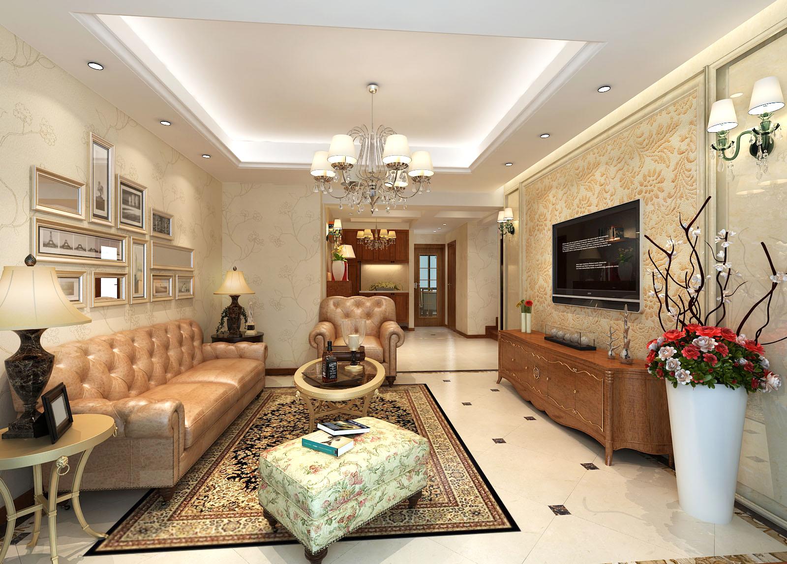 全包装修 三居室 锦绣逸庭 奥邦装饰 高娟作品 客厅图片来自上海奥邦装饰在锦绣逸庭176平户型设计美式风格的分享