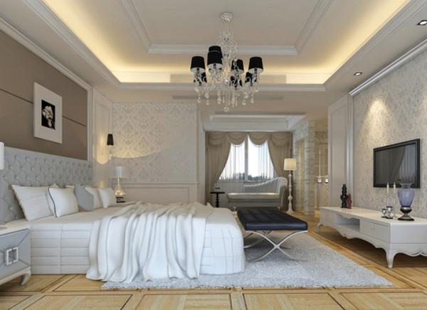 置地广场-229平米-简约风格装修-卧室装修