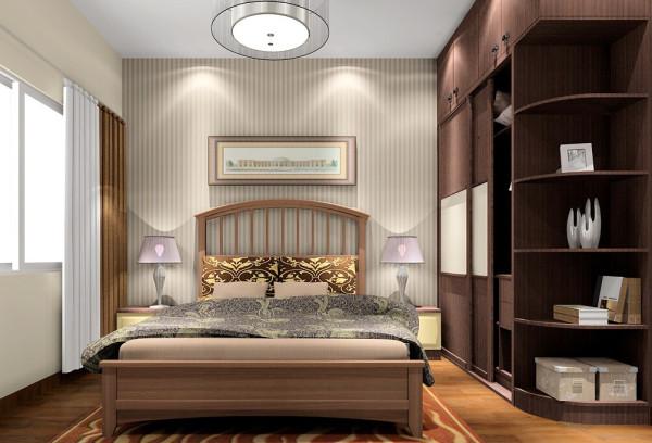 美式家居的卧室布置较为温馨,作为主人的私密空间,主要以功能性和实用舒适为考虑的重点,一般的卧室不设顶灯,多用温馨柔软的成套布艺来装点,同时在软装和用色上非常统一。