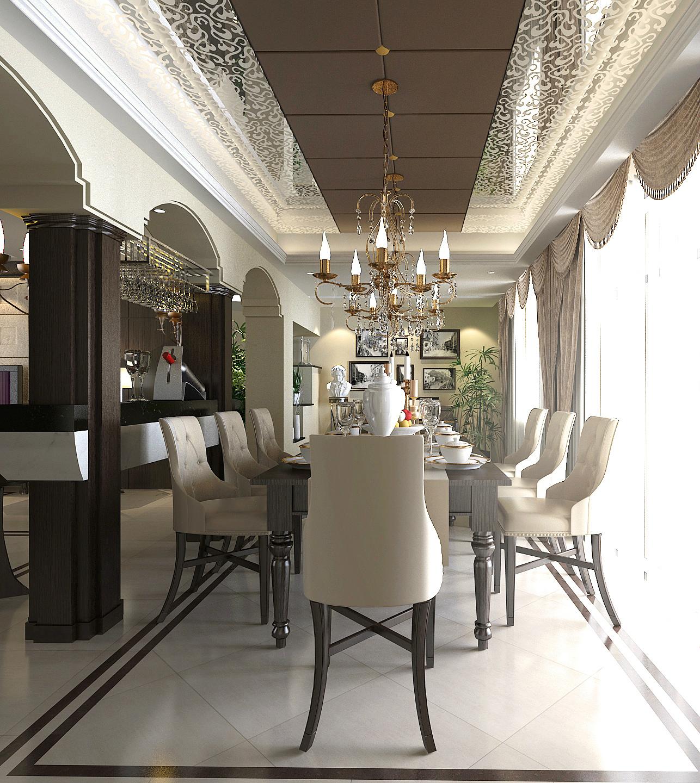 武汉实创 长久天地 别墅 欧式别墅 小资 餐厅图片来自静夜思在高雅而奢华︱长久天地︱欧式别墅的分享