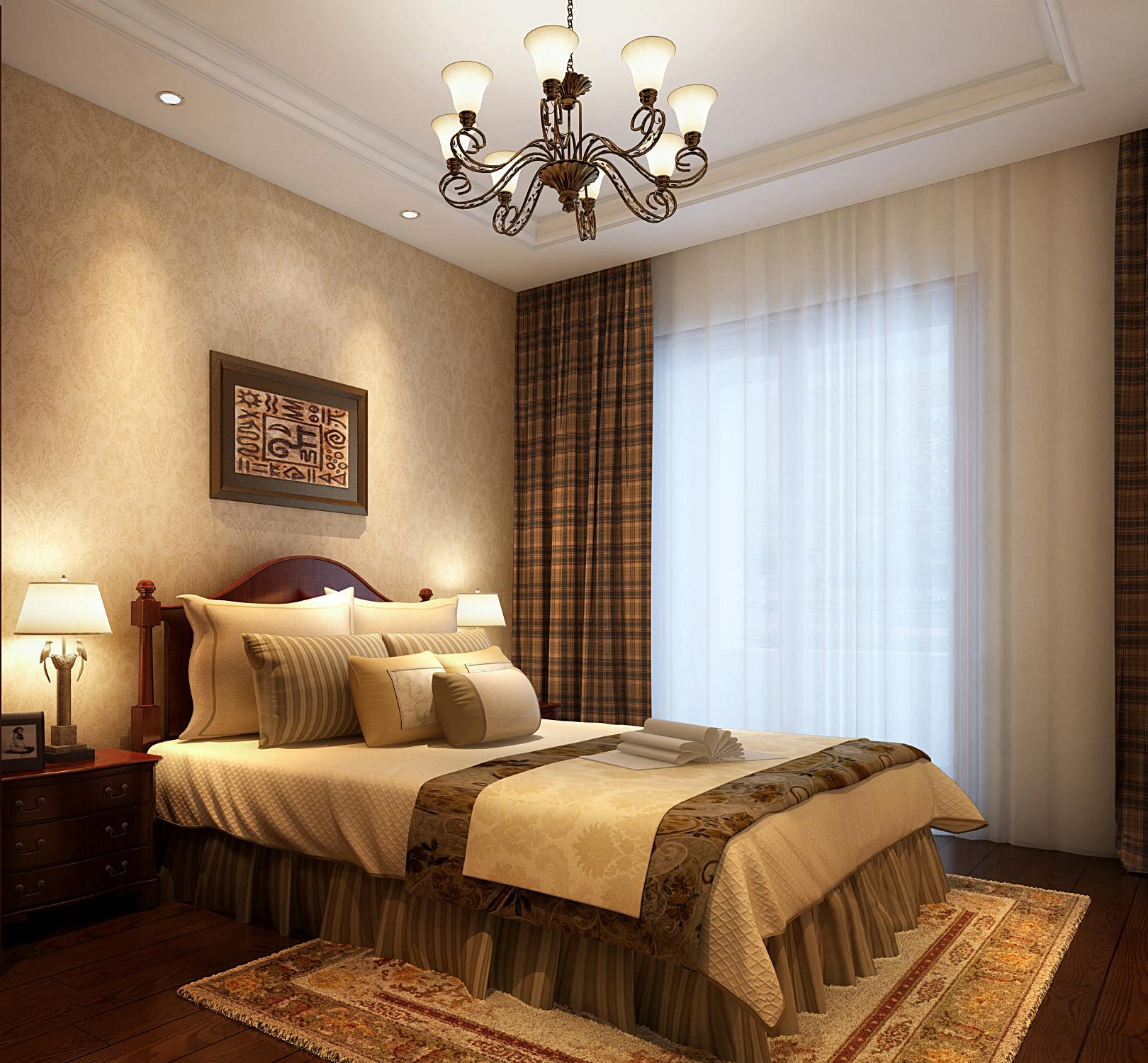 欧式 三居 卧室图片来自鱼在轻舟在鸿坤曦望山~149平欧式新古典风格的分享