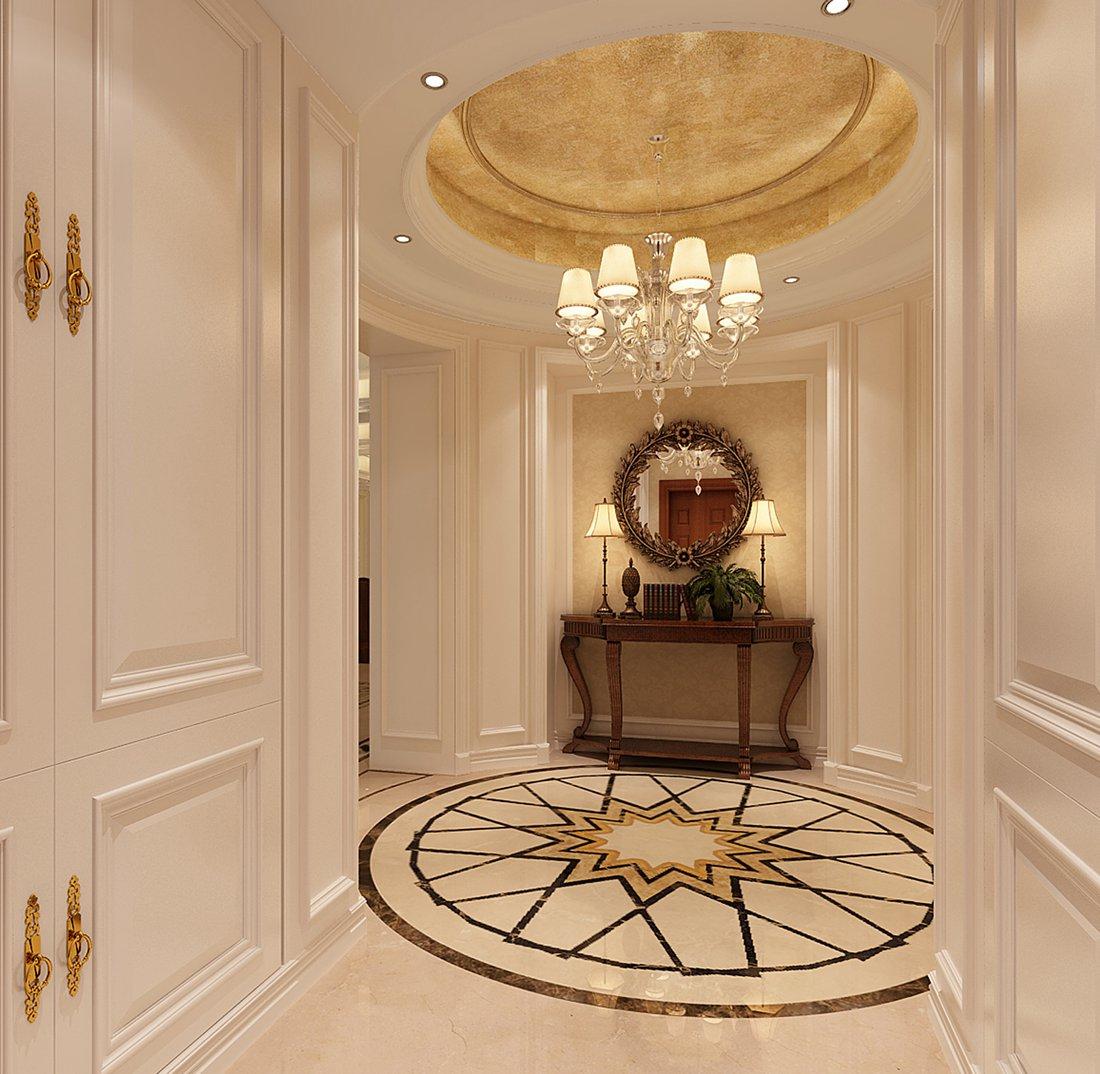 美式 别墅 白领 尚层装饰 玄关 玄关图片来自北京别墅装修案例在温馨浪漫的美式家庭的分享