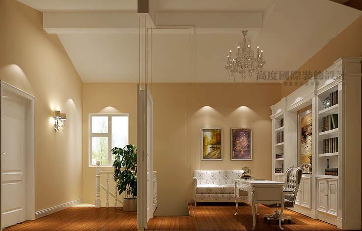 欧式 三居 书房图片来自高度国际设计装饰在鲁能7号院186㎡花园洋房欧式的分享