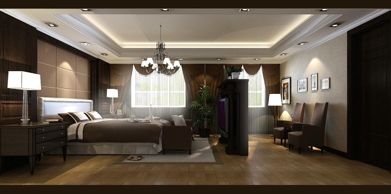 武汉实创 长久天地 别墅 欧式别墅 小资 卧室图片来自静夜思在高雅而奢华︱长久天地︱欧式别墅的分享