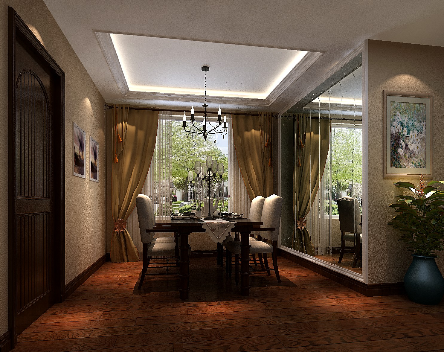 高度国际 欧式 二居 白领 餐厅图片来自凌军在4w打造温馨的两居长滩壹号的分享