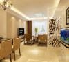客餐厅地面采用米黄色800*800地砖正铺,在达到健康舒适的条件下又达到了绿色环保的要求。