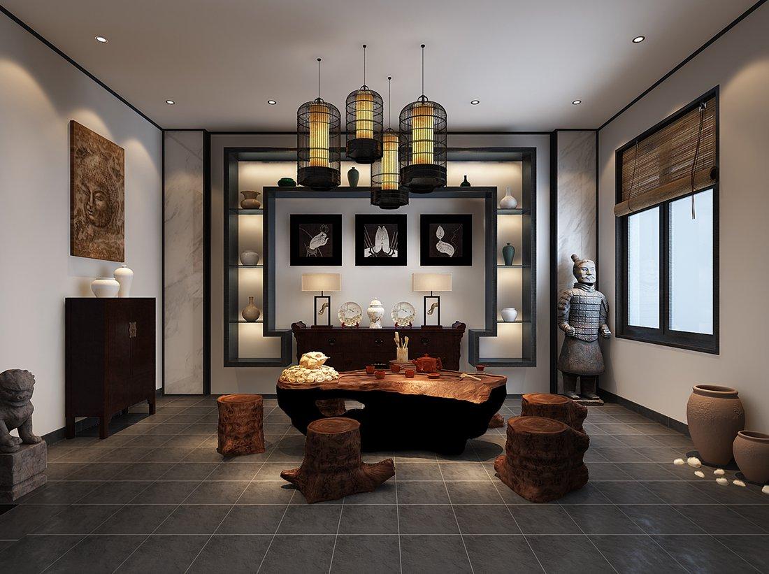 中式 别墅 白领 尚层装饰 休息室 其他图片来自北京别墅装修案例在中式气质,禅意东方的分享