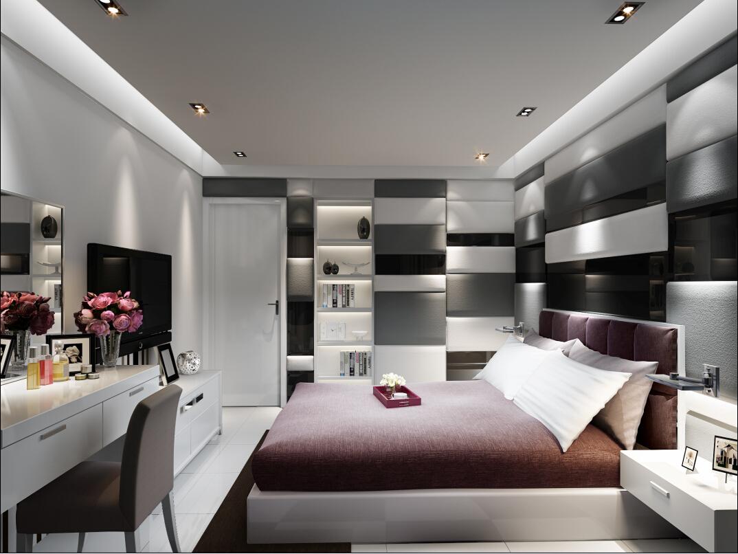 三居 现代 简约 奥邦装饰 小资 白领 卧室图片来自上海奥邦装饰在锦绣逸庭148平户型现代简约时尚的分享