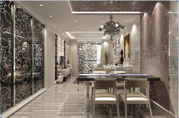 简欧风格 三居 收纳 白领 80后 小资 旧房改造 餐厅图片来自YI依帆2012在建邦华庭奢华简欧风格案例赏析的分享