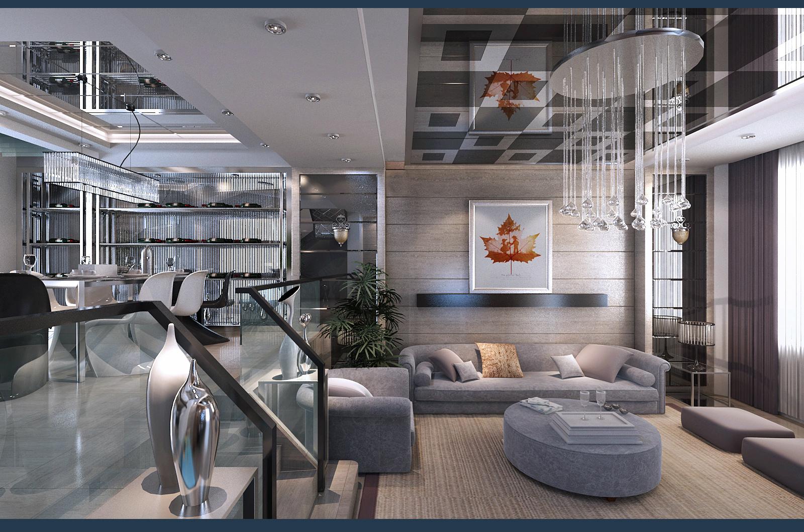 武汉实创 金色港湾 四居 复式楼 现代风格 餐厅图片来自静夜思在高贵奢华︱金色港湾︱现代风格的分享