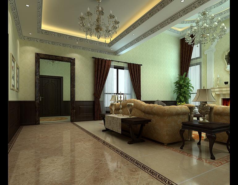 客厅图片来自亚光亚装饰在光感十足孔雀城的分享