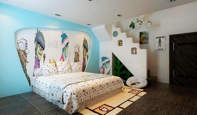 简约 三居 客厅 卧室 厨房 餐厅 80后 小资 旧房改造图片来自实创装饰百灵在189平米浪漫现代三口之家的分享