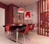 餐厅则采用简单的吊灯,客厅为回字形吊顶,内置等待和筒灯,不同的灯光会产生不同的层次