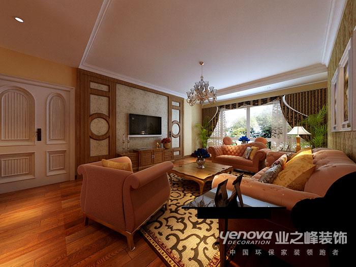 武汉业之峰 美式风格 新房装修 客厅图片来自猫咪爱吃鱼在美式田园——舒适,自然格调的分享