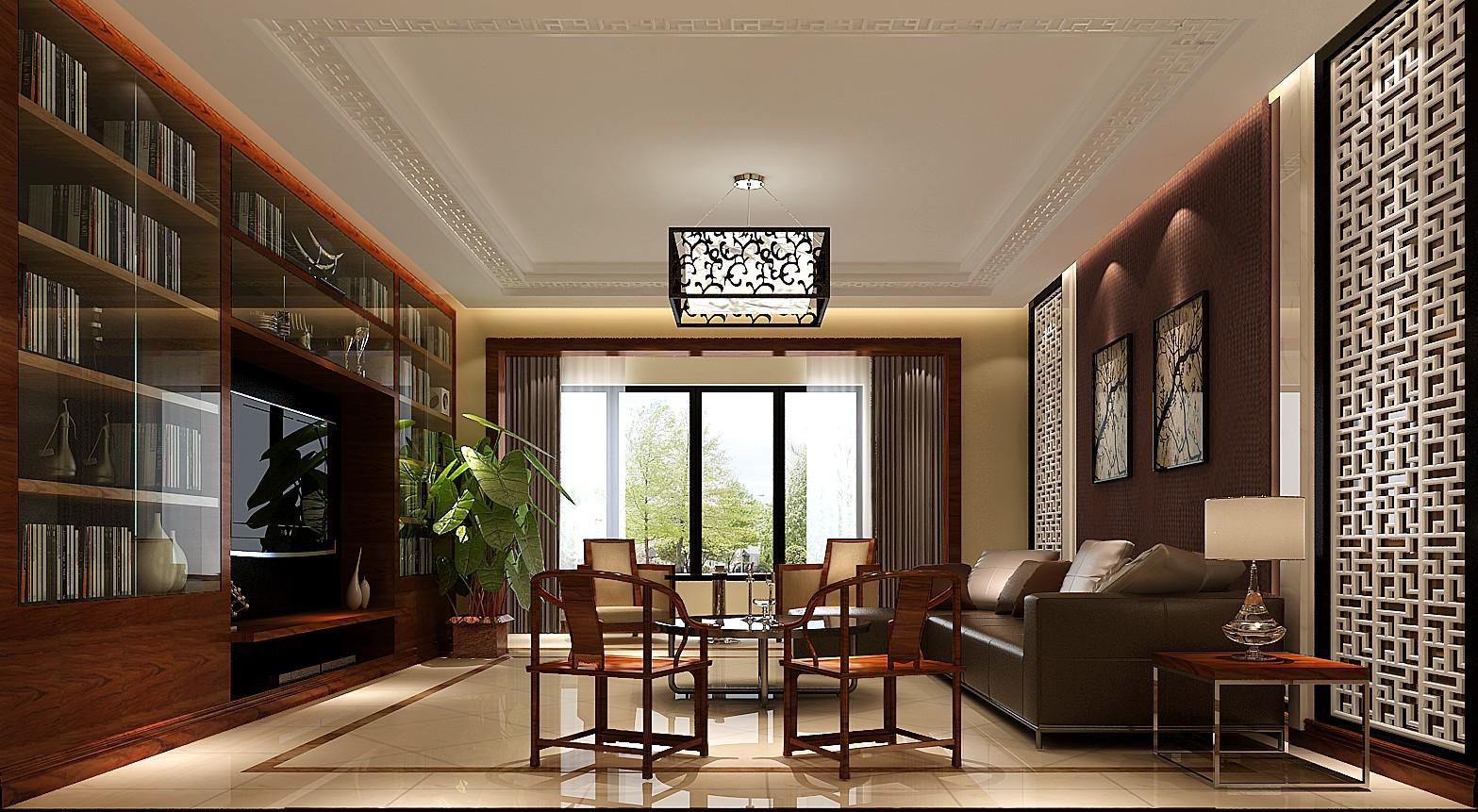 高度国际 三居 白领 别墅 80后 简约 新中式 小资 白富美 客厅图片来自北京高度国际装饰设计在西山壹号院280平新中式的分享