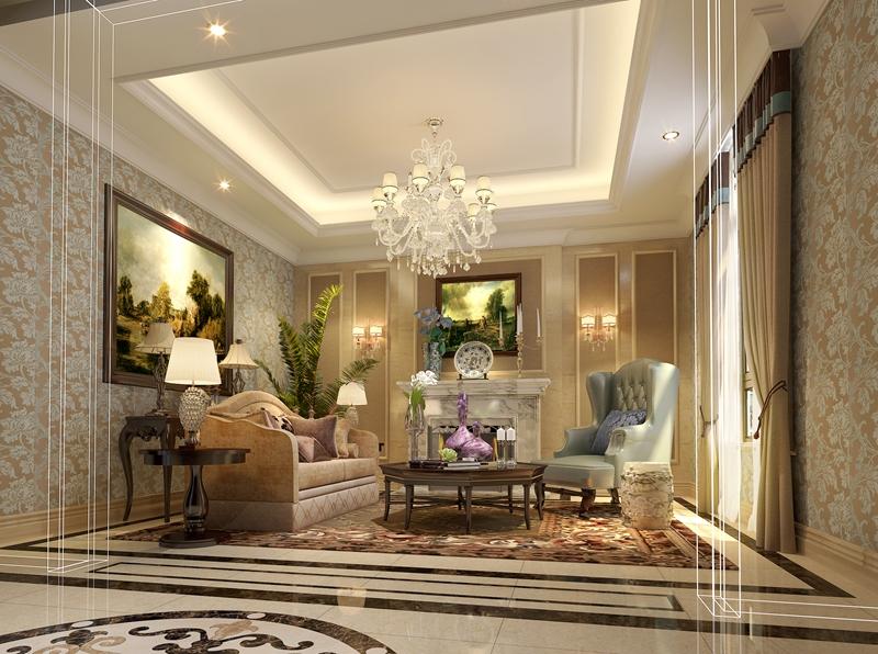 美式 别墅 装修 轻松 客厅图片来自尚层装饰-杨在轻松、随意、舒适东方普罗旺斯的分享