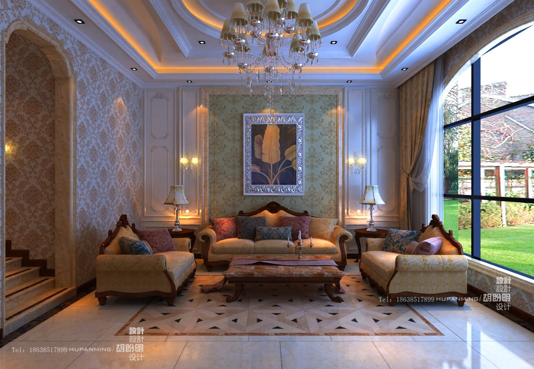 清水苑 复式 欧式 业之峰装饰 效果图 客厅图片来自文金春在清水苑装修效果图高贵典范的分享