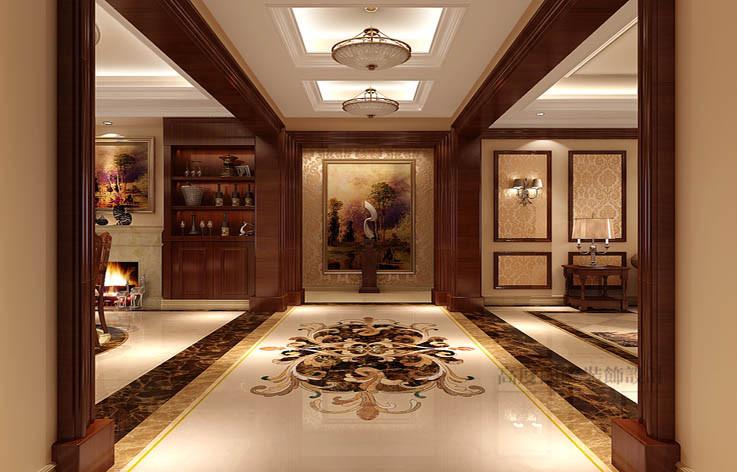 欧式 洋房 玄关图片来自高度国际设计装饰在旭辉御府177㎡花园洋房欧式风格的分享