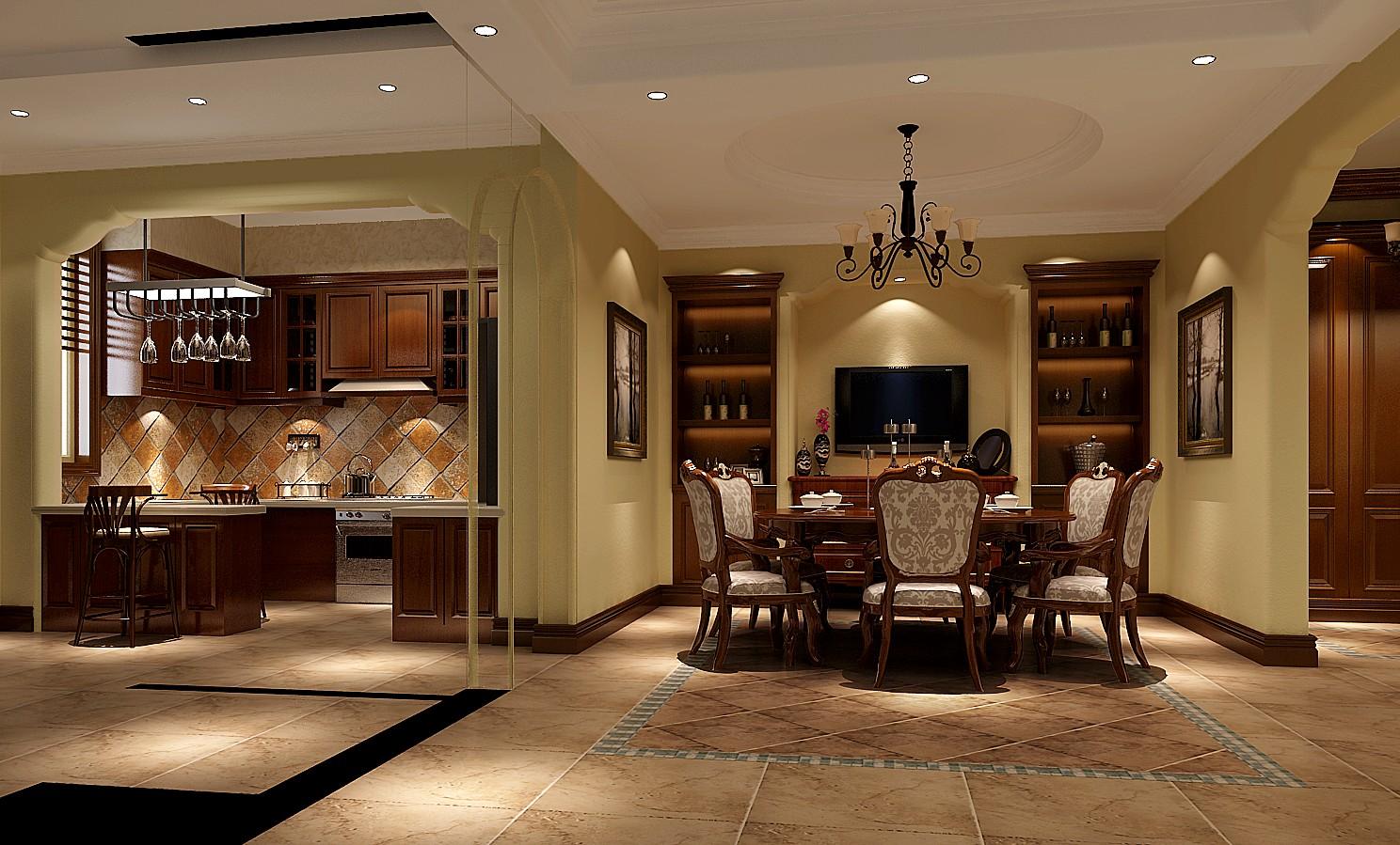 高度国际 欧式 别墅 餐厅图片来自凌军在15.3w打造中海尚湖世家的分享
