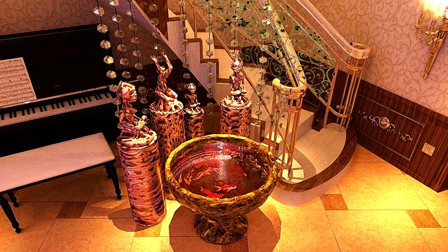 威尼斯花园 别墅 古典欧式 高度国际 装饰设计 楼梯图片来自高度国际装饰宋增会在20万打造古典欧式的分享