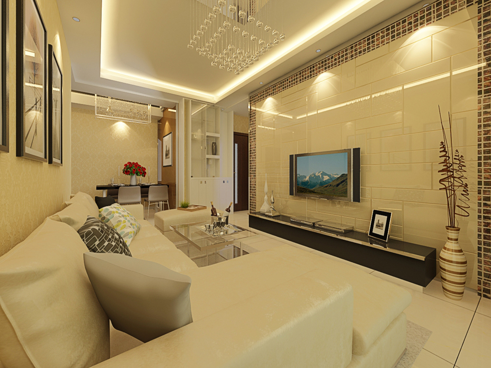 和平时光 业之峰 现代简约 客厅图片来自业之峰装饰李鑫在和平时光90平米现代风格的分享