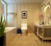 打造一个奢华的私密空间,仅仅属于主人自己,所以米色的砖和纯白的洁具形成鲜明对比,让空间显得尤为大气