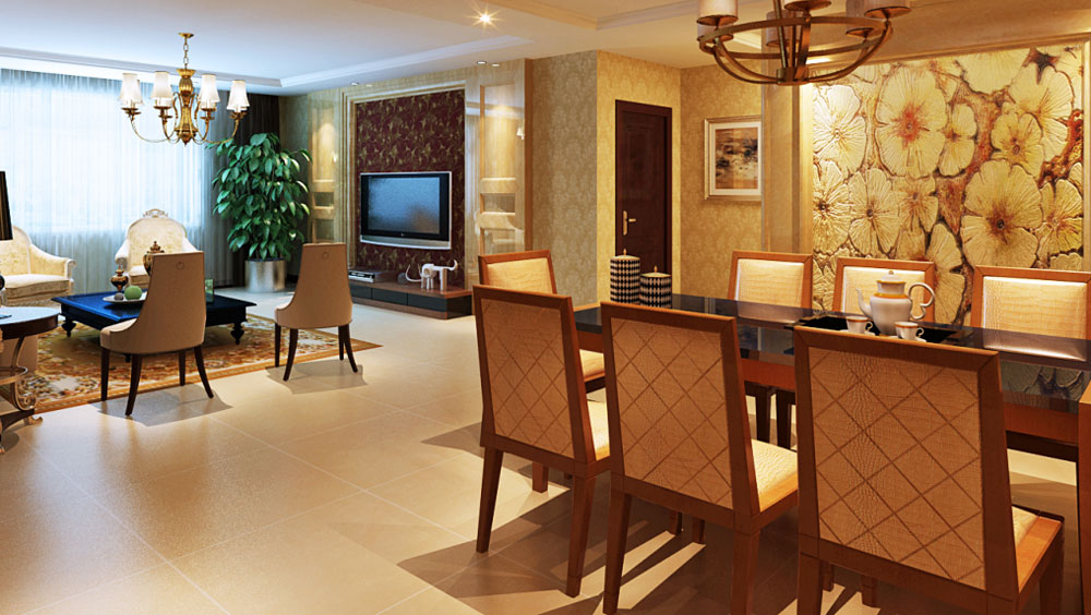 木樨地公寓 别墅 简欧风格 高度国际 装饰设计 餐厅图片来自高度国际装饰宋增会在10万打造简欧别墅的分享