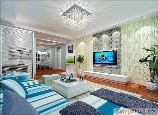 客厅图片来自多芬宝贝在现代风格-115平三居室的分享