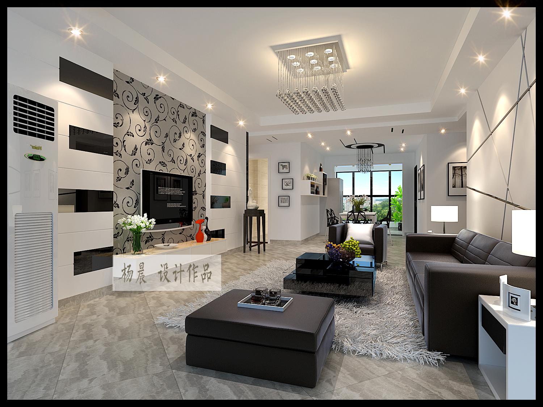 客厅图片来自ypdesigner888在时尚黑白大片的分享