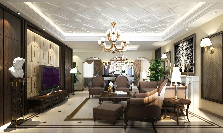 武汉实创 长久天地 别墅 欧式别墅 小资 客厅图片来自静夜思在高雅而奢华︱长久天地︱欧式别墅的分享