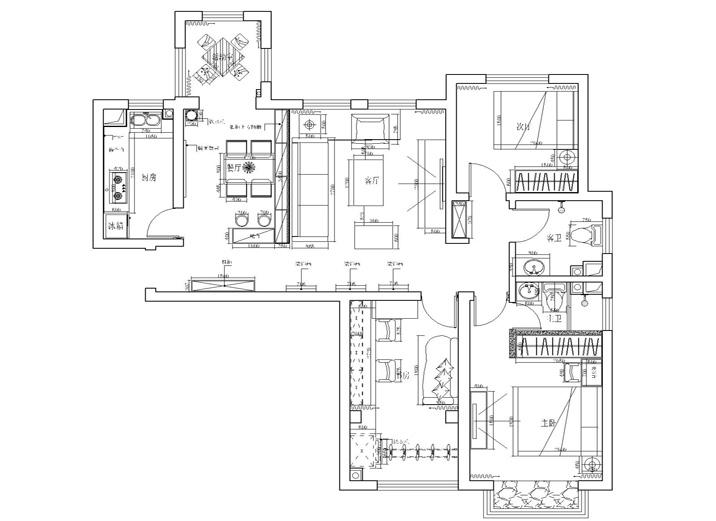 现代简约风 三居室设计 婚房设计 装修效果图 户型图图片来自上海实创-装修设计效果图在114平米君悦湾现代简约风格设计的分享