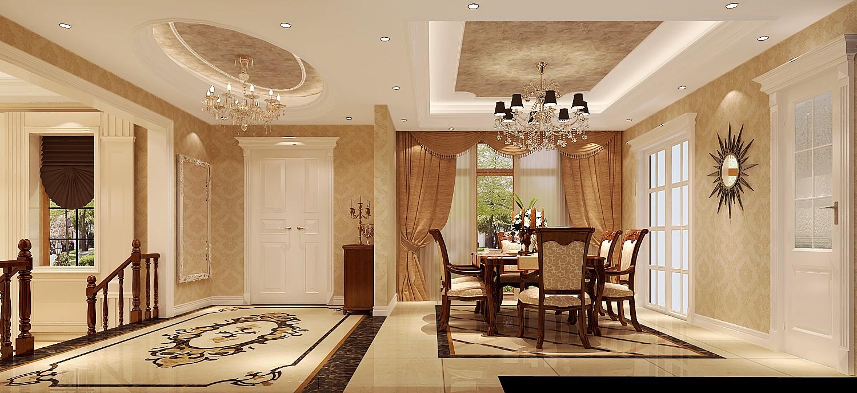 高度国际 原河名墅 时尚 美式 白领 80后 别墅 小资 白富美 餐厅图片来自北京高度国际装饰设计在原河名墅浪漫美式的分享