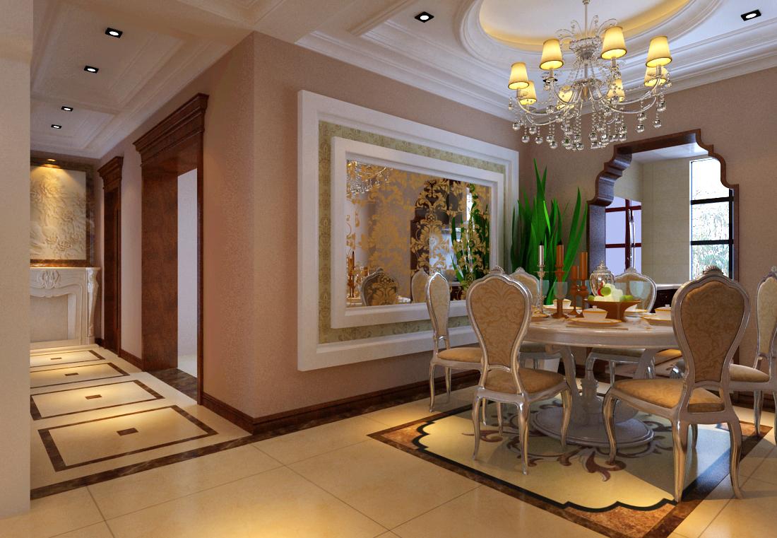 海马公园 欧式 三居 业之峰装饰 效果图 餐厅图片来自北京业之峰郑州直营店在海马公园132平装修效果图的分享