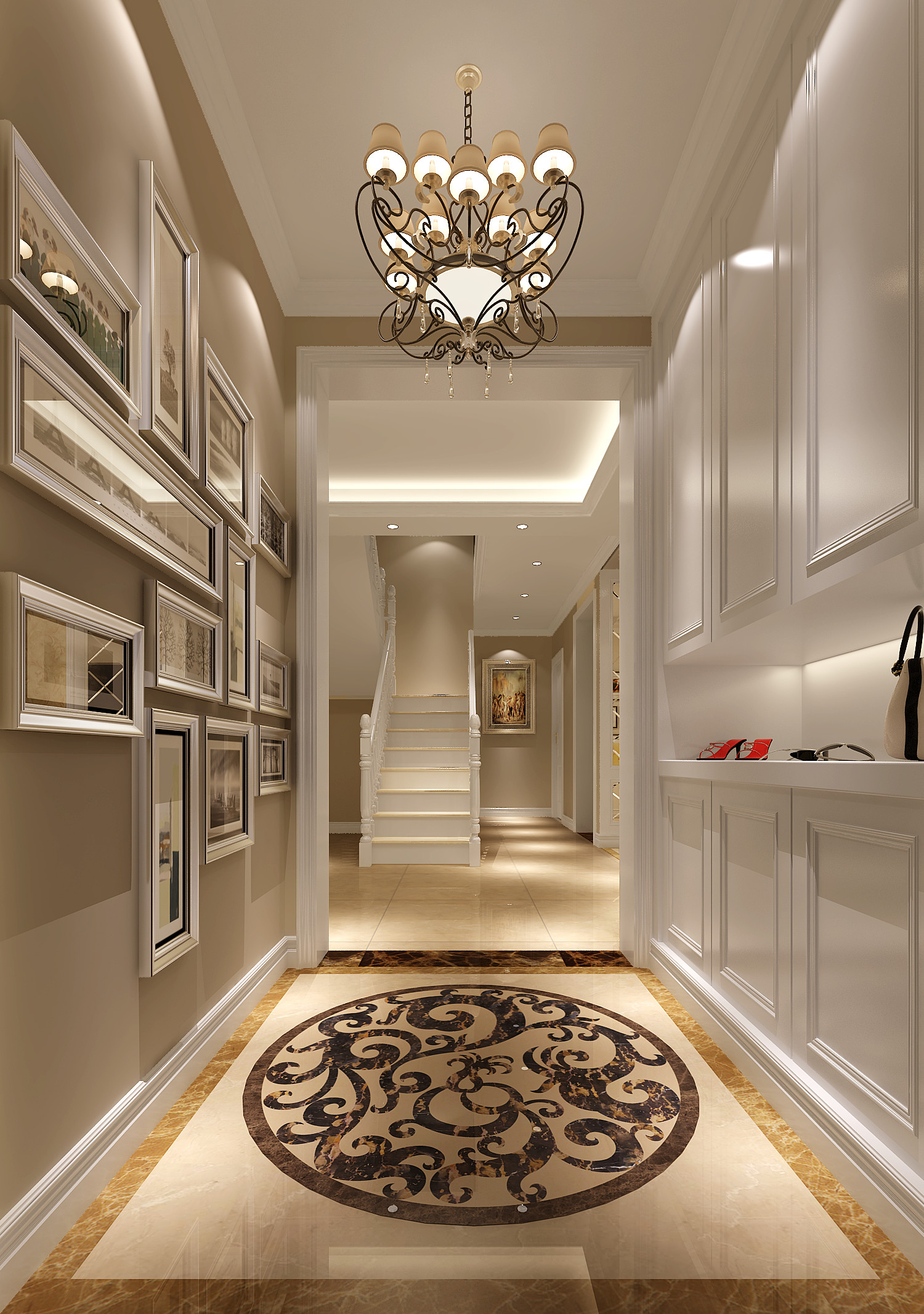 简约 欧式 公寓 别墅 白领 小资 玄关图片来自沙漠雪雨在正源13.5万打造151平简欧公寓的分享