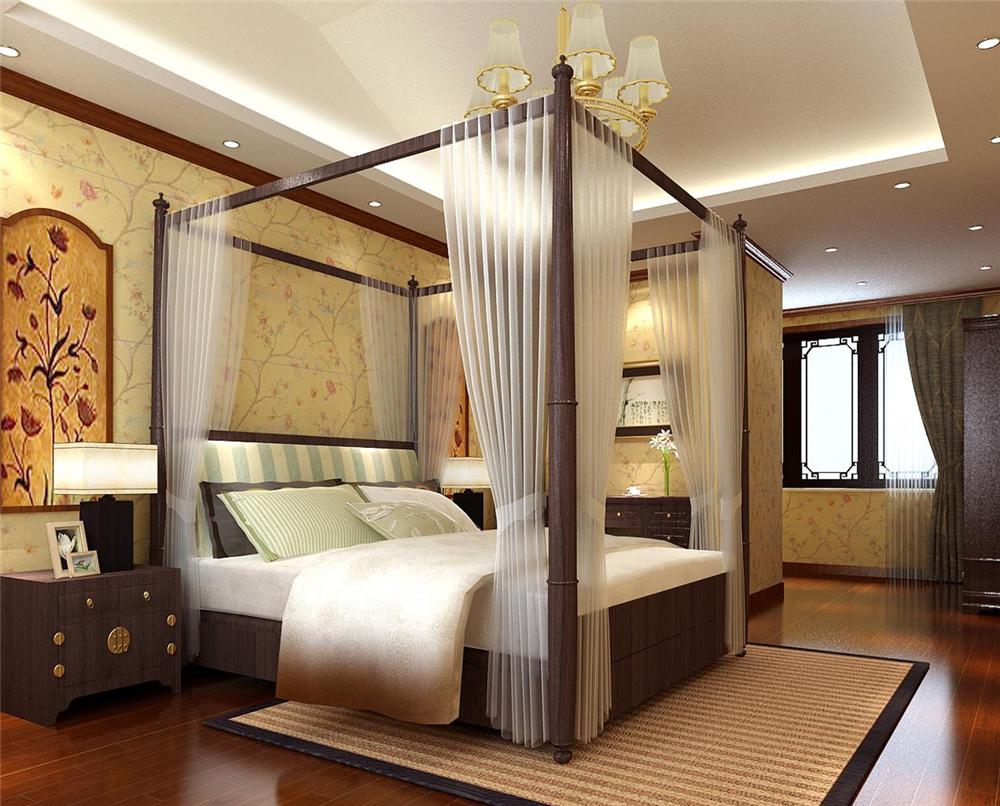 别墅 白领 收纳 小资 卧室图片来自实创装饰完美家装在龙山新新小镇中式清韵中国风的分享