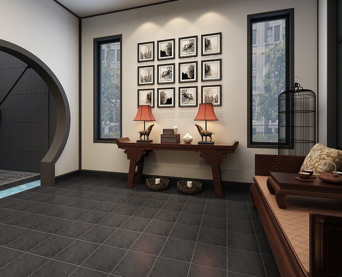 中式 别墅 白领 尚层装饰 书房 书房图片来自北京别墅装修案例在中式气质,禅意东方的分享