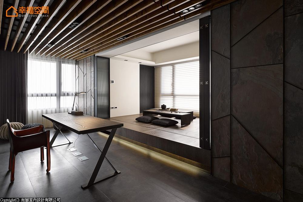 简约 现代 大坪数 四居 书房图片来自幸福空间在231平通透视野 串联家的温馨情境的分享