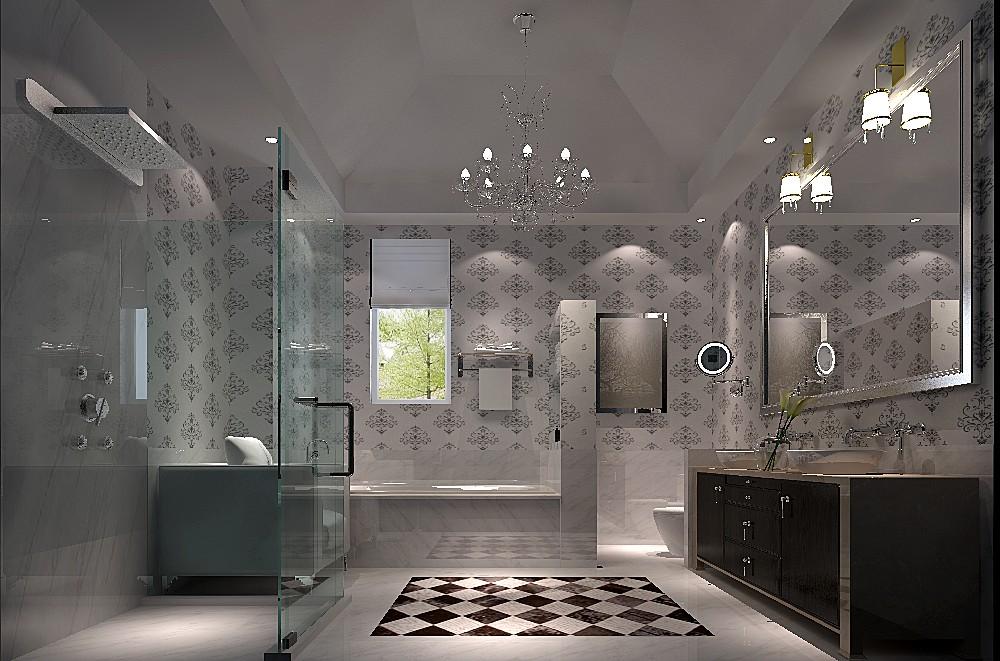 高度国际 远洋傲北 别墅 白领 80后 白富美 时尚 现代 简约 卫生间图片来自北京高度国际装饰设计在远洋傲北现代人的精彩的分享